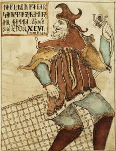 Nks 1867 Edda Opslag 92-93 Handskrift afdelingen Det kongelige Bibliotek.